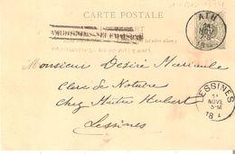 EP.19 ATH 14/11/1894 + GRIFFE VAUDIGNIES-NEUFMAISONS (de CHIEVRES) V/Lessines - RARE - Poststempel