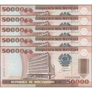 TWN - MOZAMBIQUE 138 - 50000 50.000 Meticais 16.6.1993 DEALERS LOT X 5 - Prefix EH UNC - Mozambico