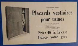Etablissements J. Houdry Et Fils - Usines à Juvisy : Placards Vestiaires Pour Usines - 1922 - France