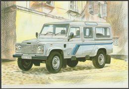 Land Rover Defender 110 County Station Wagon - Golden Era Postcard - Passenger Cars