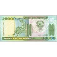 TWN - MOZAMBIQUE 140 - 20000 20.000 Meticais 16.6.1999 Low Serial 000XXXX - Prefix AA UNC - Mozambico