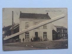 GLABAIS «La Place Et L'Ecole «Animée,Panorama (1940). - Genappe