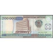 TWN - MOZAMBIQUE 141 - 200000 200.000 Meticais 16.6.1999 Prefix GB UNC - Mozambico
