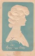The American Girl, Lounsbury Published Fashion, Beautiful Woman, C1900s Vintage Embossed Postcard - Fashion
