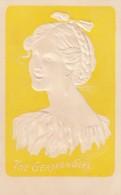 The German Girl, Lounsbury Published Fashion, Beautiful Woman, C1900s Vintage Embossed Postcard - Moda