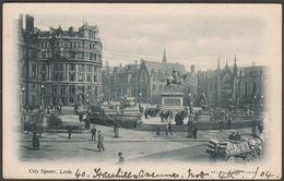 City Square, Leeds, Yorkshire, 1904 - Reliable Series Postcard - Leeds