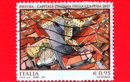ITALIA - Usato - 2017 - Pistoia Capitale Italiana Della Cultura 2017 - Piazza Del Duomo - 0.95 - 6. 1946-.. Repubblica