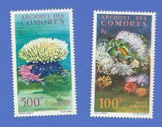 COMORES PA 5 + PA 6 NEUFS ** FAUNE ET FLORE MARINES - Comoro Islands (1950-1975)