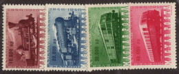 HUN SC #785-8 MH(HR) 1946 Centenary Of Hungarian Railways W/875 - Sm Backside Prt Adh CV $19.00 (if NH) - Unused Stamps
