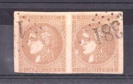 Paire Cérès Bordeaux N° 43A - GC 1381 - Egletons (Corrèze) - Cote 220 - 1849-1876: Klassik