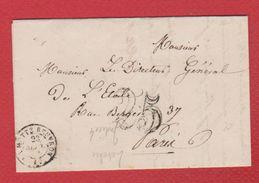 Lettre   / De La Motte Beuvron  / Pour Paris   /  23 Septembre 1851 - Marcophilie (Lettres)