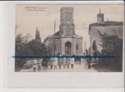 CPA Coupée - ARVEYRES - L'Eglise Notre Dame - Arcachon