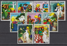 PARAGUAY 1713-19 + PA 824-5  MNH ** - Cendrillon – Assepoes – Cinderella (1979) - Paraguay