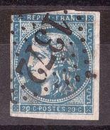 Cérès Bordeaux N° 45C - GC 1372 - Ebreuil (Allier) + Belle Tâche Sur Médaillon - 1849-1876: Klassik