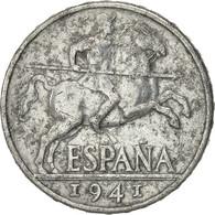 Espagne, 10 Centimos, 1941, TB+, Aluminium, KM:766 - [ 4] 1939-1947 : Gouv. Nationaliste