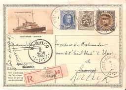 C.Illust.RECOMMANDEE N° 11 (PRINCE LEOPOLD) + TP 257-280 Csc OOST-ROUSEBEKE Du 8/2/1932 V/COURTRAI - Stamped Stationery