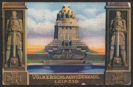 """Mi-Nr. PP 27 C207/03, """"Weihe Völkerschlachtdenkmal"""", 1913 Mit 2 Rolanden , Mit Pass. Sst. Gelaufen, O - Deutschland"""
