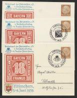 """Mi-Nr. PP 122 C 106/01, """"Philatilistentag 1939"""", Ungebraucht Und 2 Karten Mit Versch. Pass. Sst. """"München"""", *,o - Deutschland"""