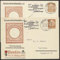 """Mi-Nr. PP 122 C 110/01 +/04, """"Philatelistentag 1940"""", 2 Versch. Karten Mit Pass. Maschinenstempel, O - Deutschland"""