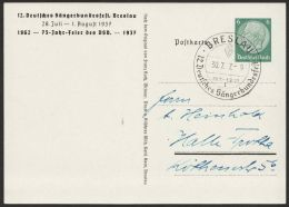"Mi-Nr. PP 127 C 30/01, ""Sängerbundesfest Breslau"", 1937, Pass. Sst. Rücks. Farbiges Bild ""Blick Auf Dominsel"", O - Deutschland"