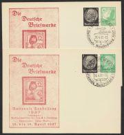 """Mi-Nr. PP 133C1, PP 145 C3, """"Dt. Briefmarke- Luftschutz"""", 2 Versch. Karten Mit Pass. Sst., O - Deutschland"""
