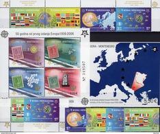 50 Jahre CEPT 2006 CRNA GORA Block 2A+3,Bosna 419/2,ER+ZD ** 108€ Karte Flagge S/s Map Blocs Flags Sheets Bf EUROPA - Montenegro