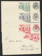 """Mi-Nr. PU 24 C3, PU 27 C3, PU 26 C5, """"Friedrich I., Wilhelm II"""", 3 Umschläge """"Ulm"""", 2.1.06, O - Deutschland"""