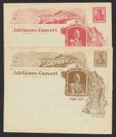 """Mi-Nr. PU 25 C12/01, PU 27 C12/01, """"Jubiläums- Couvert, Wilhelm II"""", 2 Versch. Umschläge. * - Deutschland"""