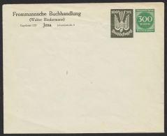 """Mi-Nr. PU 97, """"Frommansche Buchhandlung, Jena"""", Seltener Umschlag, * - Deutschland"""