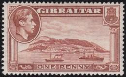 Gibraltar      .      SG     .     122a  Perf.  13 1/2      .     *       .     Ongebruikt    .    /    .    Mint-hinged - Gibraltar