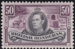 British  Honduras      .      SG     .     158      .     *       .     Ongebruikt    .    /    .    Mint-hinged - Brits-Honduras (...-1970)