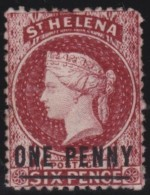St  Helena      .      SG     .    8      .     (*)     .    Geen Gom    .    /    .    No Gum - Saint Helena Island
