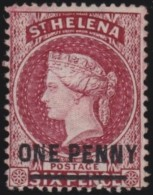St  Helena      .      SG     .     21      .        (*)     .    Geen Gom    .    /    .    No Gum - Saint Helena Island