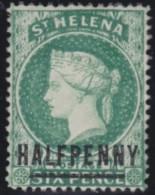 St Helena   .      SG     .     34     .        *            .  Ongebruikt      .    /    .    Mint-hinged - Saint Helena Island