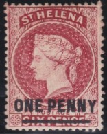 St Helena   .      SG     .     27        .        *     .      Ongebruikt      .    /    .    Mint-hinged - Saint Helena Island