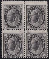 Canada      .      SG     .       142  Blok  4       .     O      .      Gebruikt   .    /    .      Cancelled - 1851-1902 Regering Van Victoria
