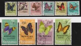 Tanzania   .      SG        .    O  40/49      .       O       .      Gebruikt   .    /    .   Cancelled - Tanzania (1964-...)
