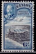 Ceylon 1935-36, KGV, Colombo Harbor, 6c, Sc#266, Used - Ceylon (...-1947)