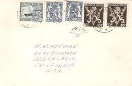 Lettre Par AVION TP. 426(2)-689(2)-727 BRUXELLES V/Berkeley(Californie) Affranch. 24,15 Fr. - Belgien