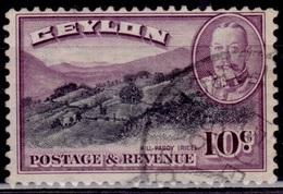 Ceylon 1935-36, KGV, Rice Terraces, 10c, Sc#268, Used - Ceylon (...-1947)