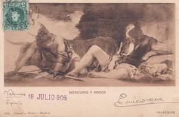 MERCURIO Y ARGOS. VELAZQUEZ. HAUSER Y MENET-CIRCULEE TO MONTEVIDEO-TBE-BLEUP - Peintures & Tableaux