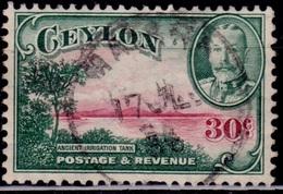 Ceylon 1935-36, KGV, Ancient Reservoir, 30c, Sc#272, Used - Ceylon (...-1947)