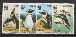 Namibie - 1997 - N°Yv. 790 à 793 - Pingouins / WWF - Neuf Luxe ** / MNH / Postfrisch - Penguins