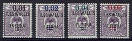 "Wallis And Futuna, Overprint ""ILES WALLIS ET FUTUNA"", 1922, MH VF Complete Set Of 4 - Wallis And Futuna"