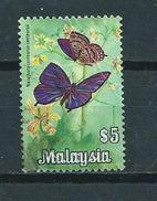 1970 Malaysia $5 Vlinder,butterfly,papillon,schmetterlinge Used/gebruikt/oblitere - Maleisië (1964-...)