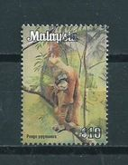 Malaysia $10 Aap,monkey,affen,oerang-utang Used/gebruikt/oblitere - Maleisië (1964-...)