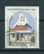 1989 Mauritius Pope John Paul II Used/gebruikt/oblitere - Mauritius (1968-...)