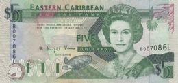 (B0131) EAST CARIBBEAN STATES - ST. LUCIA, 1993. 5 Dollars. P-26l. VF - Oostelijke Caraïben