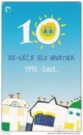 CROATIA(chip) - SOS Djecje Selo Hrvatska 1992-2002, Exp.date 12/04, Used - Croatia