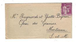 PAIX  40 C Lilas YT 281 A ( Type II ) Roulette - France